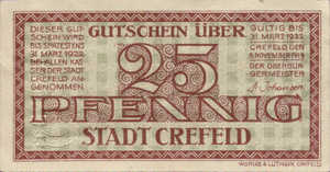 Germany, 25 Pfennig, C29.5