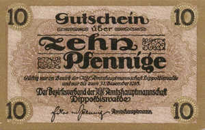 Germany, 10 Pfennig, D22.1a