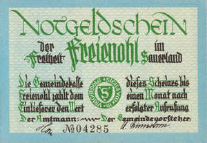 Germany, 75 Pfennig, 384.1