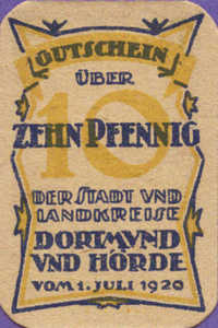 Germany, 10 Pfennig, D28.3a
