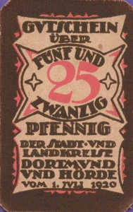Germany, 25 Pfennig, D28.3d