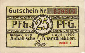 Germany, 25 Pfennig, A17.4a