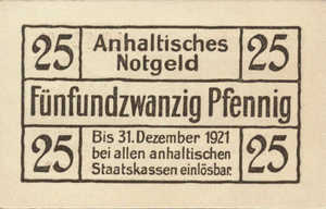 Germany, 25 Pfennig, A17.4b