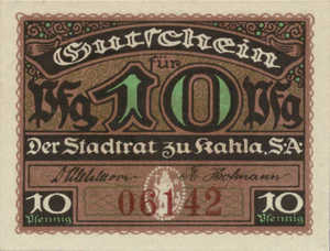 Germany, 10 Pfennig, K1.7b