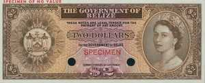 Belize, 2 Dollar, P34cts