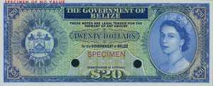 Belize, 20 Dollar, P37cts