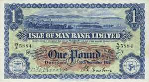 Isle Of Man, 1 Pound, P6d