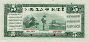 Netherlands Indies, 5 Gulden, P113s