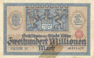 Germany, 200,000,000 Mark, 2684z